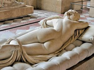 Marble sculpture of a sleeping hermaphrodite. - Palazzo Massimo