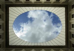 sky above the Altemps palace courtyard, Museo Nazionale Romano